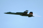 61-7956 25 SR-71B N831NA left rear in flight afterburner l