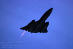 61-7971 SR-71A 64-17971 right front in flight afterburner l