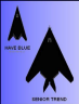 have blue 300-have blue and senior trend silhouette
